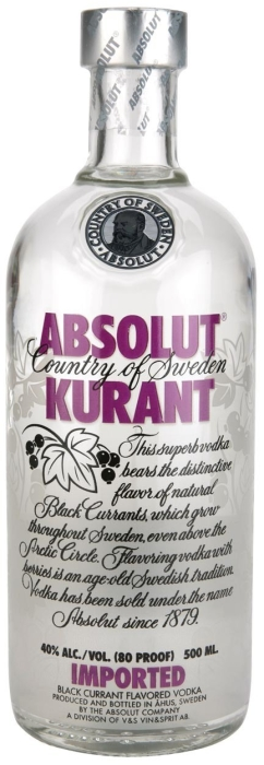 Absolut Vodka Kurant 0.5L