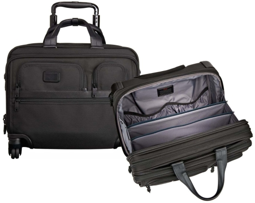 Tumi 026627D2 4 Wheel Deluxe Brief with Laptop Case