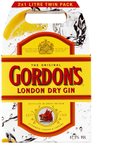 Gordon's London Dry Gin Twinpack 47.3% 2x1L