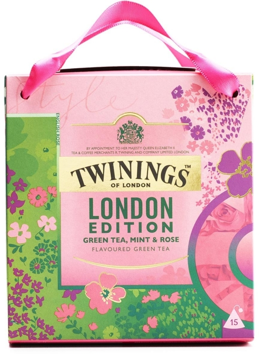 Twinings London Edition Mint&Rose Green Tea 37.5g