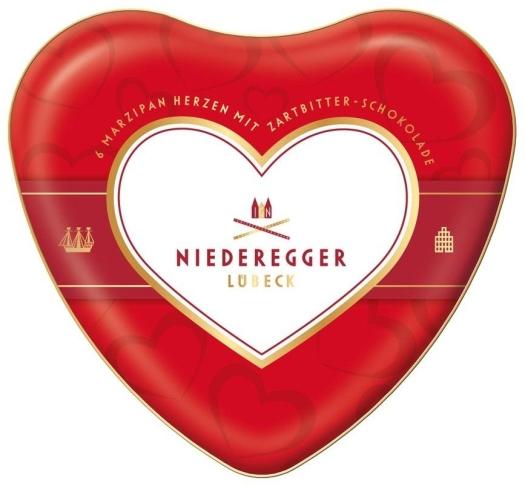 Niederegger Marzipan Heart tin 75g