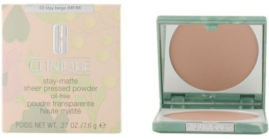 Clinique Stay-Matte Sheer Pressed Powder N03 Beige 7g