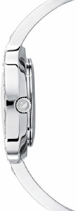 Swarovski Lovely Crystals Bangle Watch, Metal Bracelet, White, Silver Tone