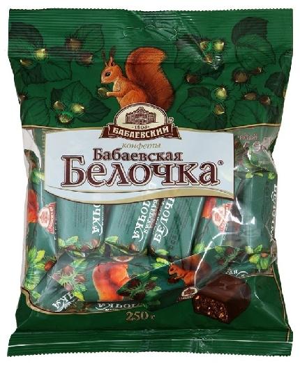 """Babaevsky """"Belochka"""" Babayevsky Chocolates 250g"""