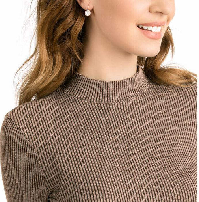 Swarovski Bella V Pierced Earrings, Pink, Rose Gold Plating