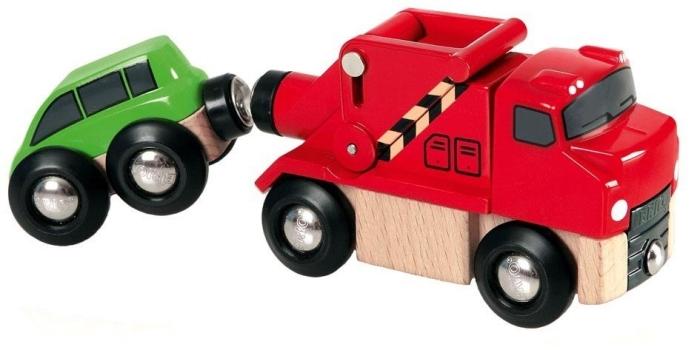 BRIO Wooden Toy Tow Truck