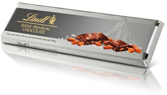 Lindt Tablette Noir Sea Salt Almond 300g