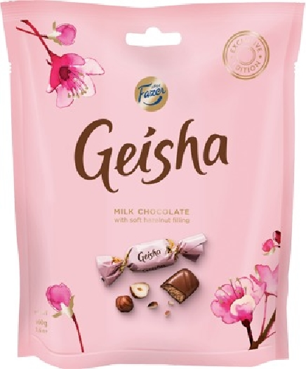 Fazer Geisha Milk chocolates with soft hazelnut filling 160g