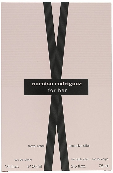 Narciso Rodriguez For Her Travel Retail Set EdT 100ml + 75ml