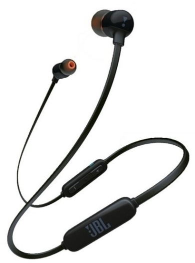 JBL T110BT In-Ear Bluetooth Headphones with Remote Black 16.2g