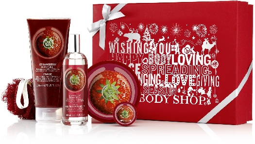 The Body Shop Body Shop Gift Medium Strawberry AYR18 250ml + 200ml + 75ml + 100ml + 30ml