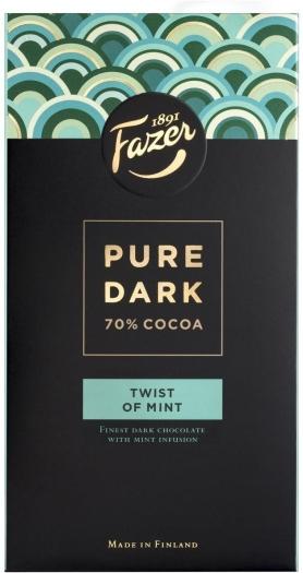 Fazer Pure Dark Twist Of Mint 95g