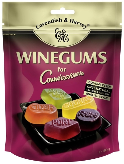 Cavendish&Harvey Winegums for Connoisseurs 180g