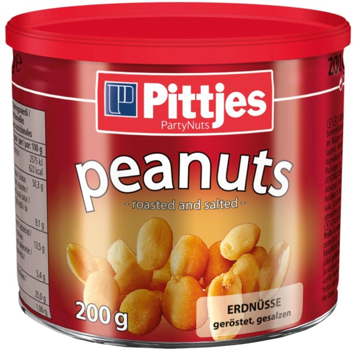 Pittjes Peanuts Salt Tin 200 g