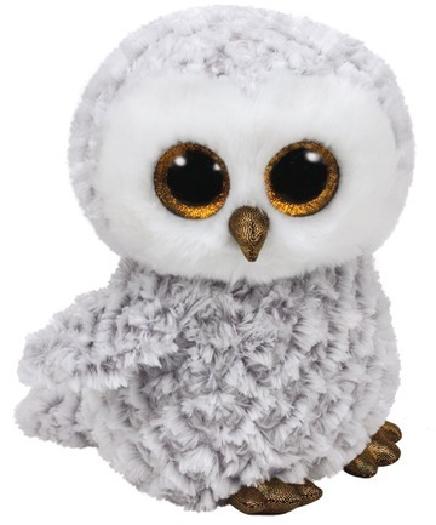 TY Beanie Boos, owlette whie owl - beanie boo medium