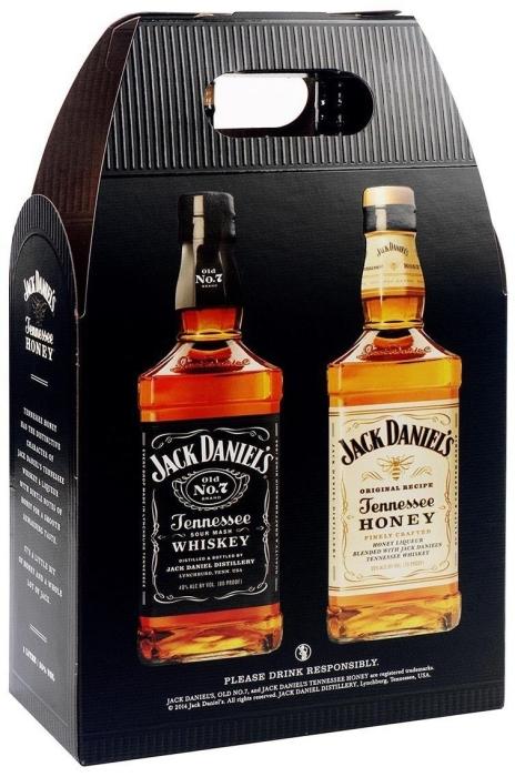 Jack Daniel's Black Label 40% + Honey 35% Twinpack 2х1L