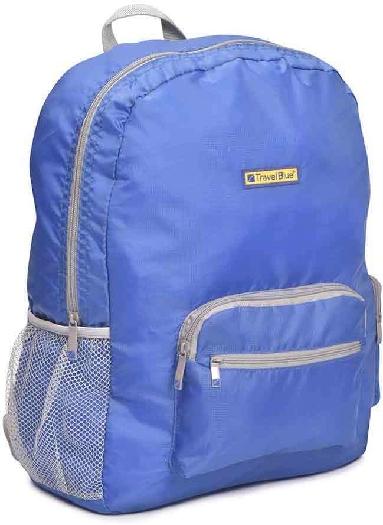 Travel Blue Folding Large Backpack - 20 Litre Blue/Pink/Black TB-065