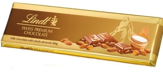 Lindt Tablet Gold Milk Almonds 300g