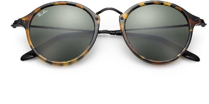 Ray-Ban Round Spotted Black Havana sunglasses