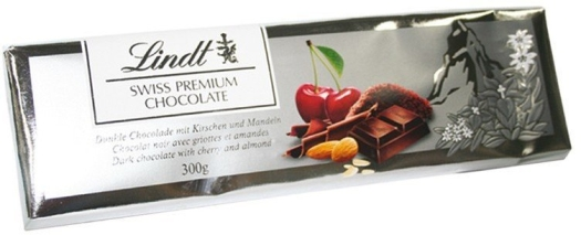 Lindt Dark Cherry Almond Silver 300g