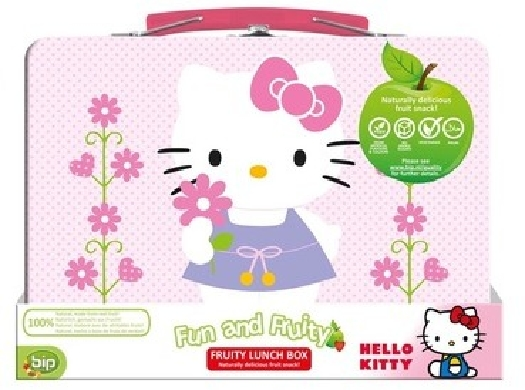 Hello Kitty Fruity Lunch Box with fruitsnack
