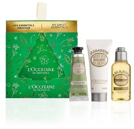 L'Occitane en Pr. Almond Xmas Body Care Set cont.: Shower Oil 35 ml + Milk Concentrate 20 ml + Delicious Hand Cream 10 ml