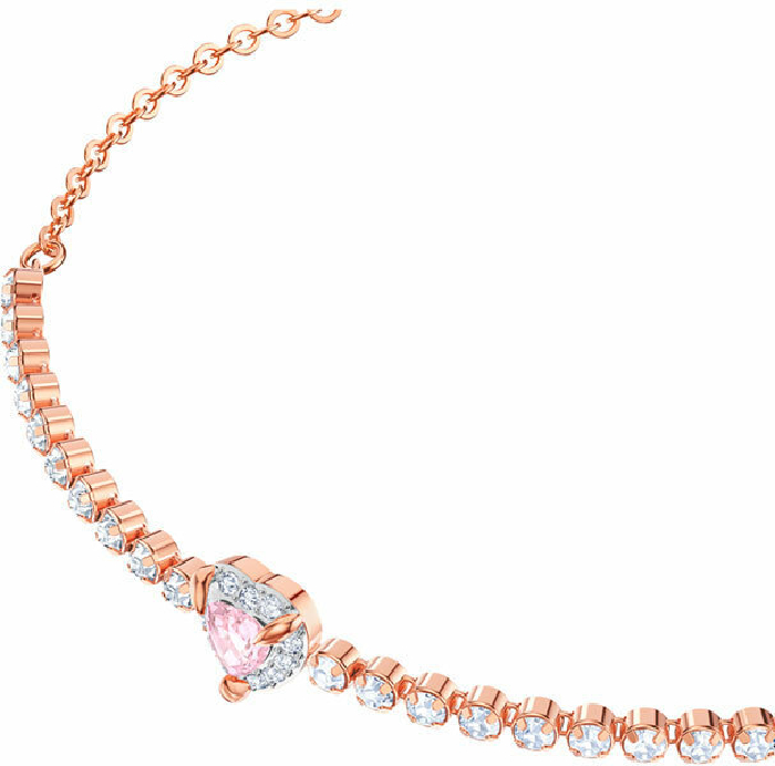 Swarovski One Bracelet, Multi-colored, Rose Gold Plating