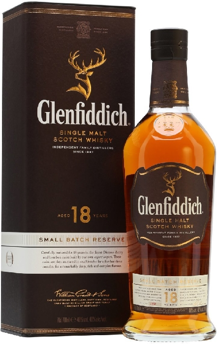 Glenfiddich Whiskey 18 YO 1L