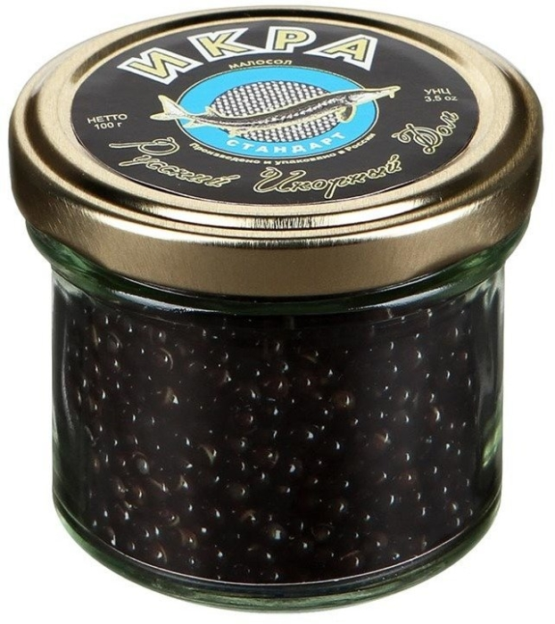 Russian Caviar House Sturgeon Caviar Standard Black 100g