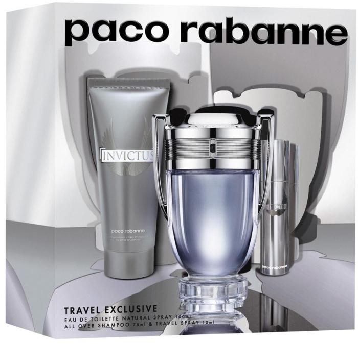 Paco Rabanne Invictus Set EdT 100ml + 75ml + 10ml