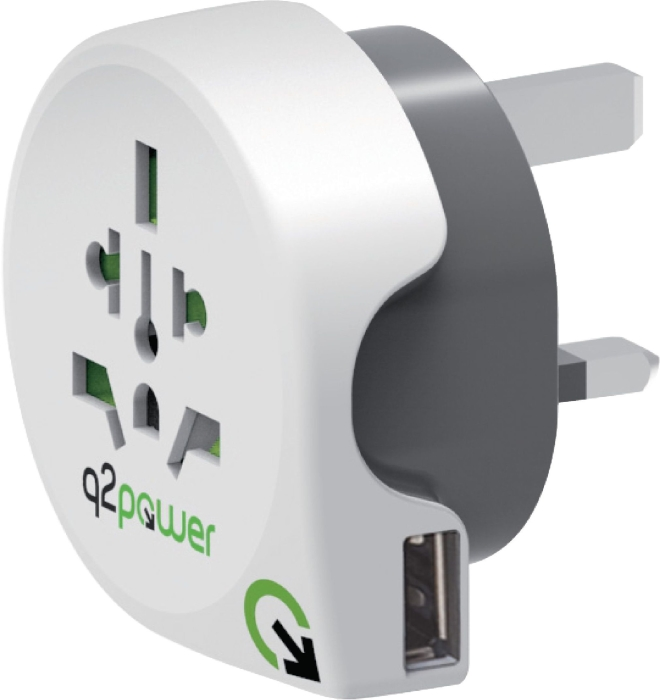 Q2 Power Country Adapter Uk Usb 130