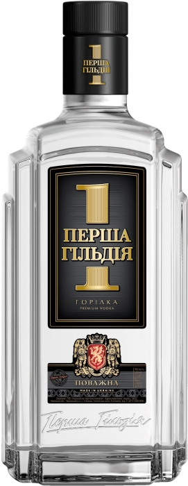 Premium Ukrainian vodka First Guild Povazhna 0.7L