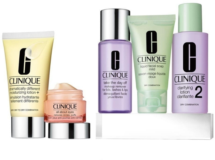 Clinique Daily Essentials Dry Combination Set 50+15+30+50+60ml