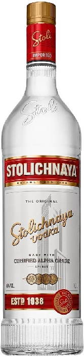 Stolichnaya Red Premium Vodka 1L
