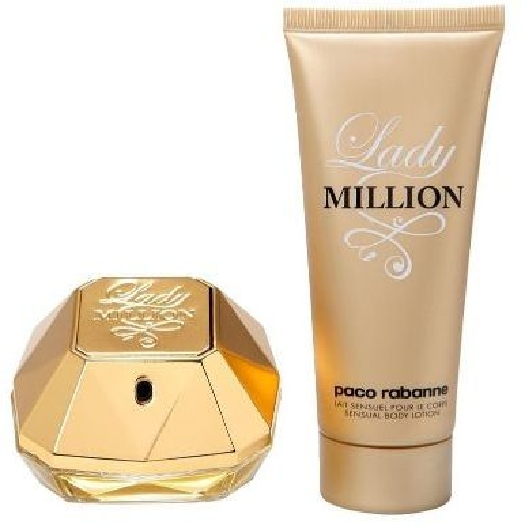 Paco Rabanne Lady Million Christmas Set Set cont.: Eau de Parfum 80 ml + Body Lotion 100 ml