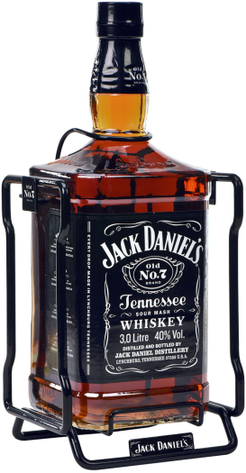 Jack Daniel's Black Label Whiskey Cradle 3 L