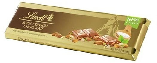 Lindt Gold Bar Milk Almond Pistachio 300g