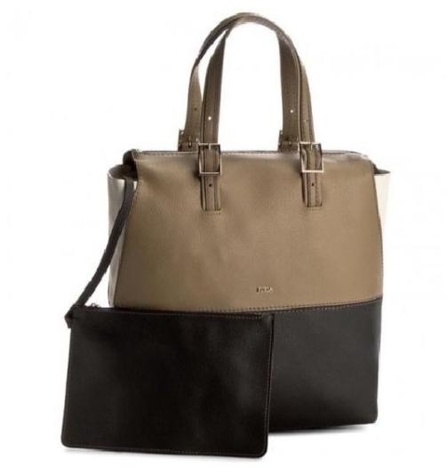 Furla Handbag Dori 889315 Khaki Onyx Petalo