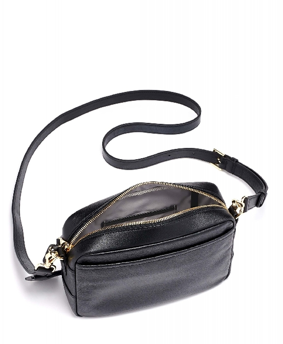 Tumi Voyageur Florence Crossbody Leather Bag, Black 0196365D