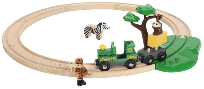 BRIO Wooden Toy 33720 Safari Railway Set