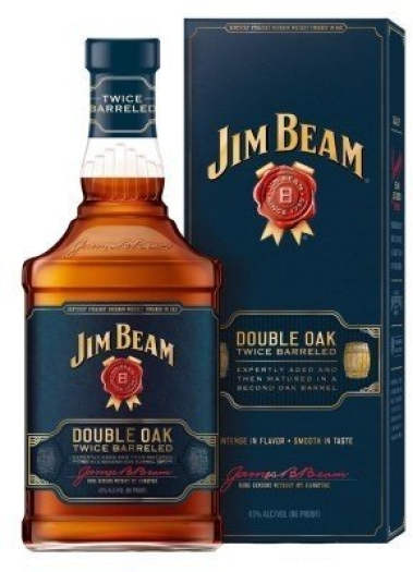 Jim Beam Double Oak Giftpack 1L