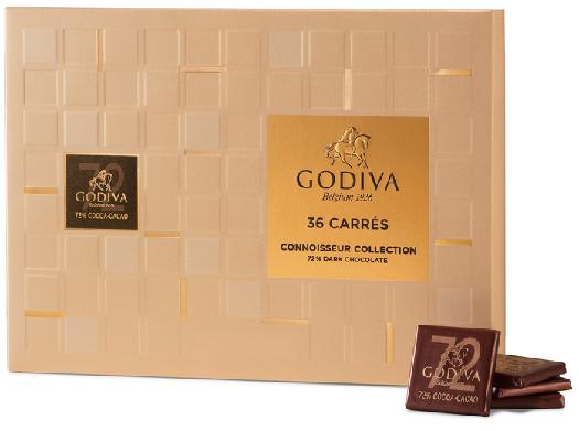 Godiva Carrés Dark 180g