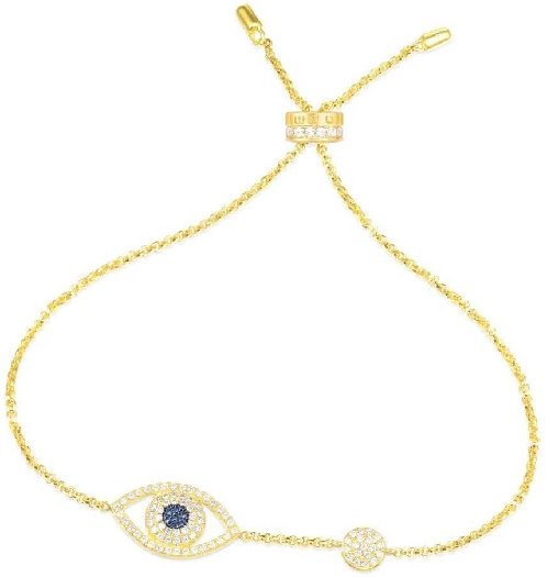 APM Monaco Yellow Silver Lucky Eye Bracelet