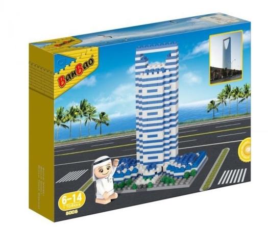 Banbao Arabic Line Kingdom Tower Building Bricks 630g