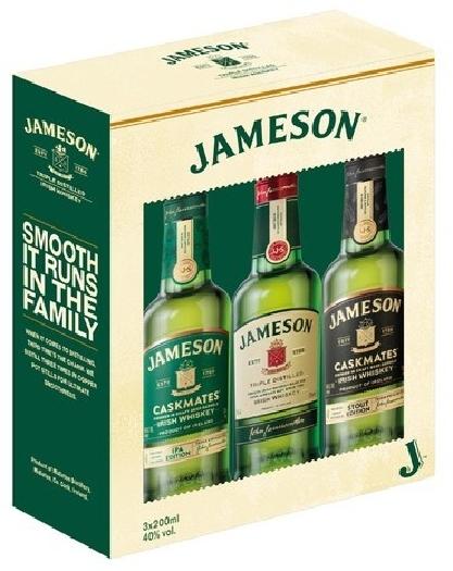 Jameson Irish Whiskey Triple Pack 40% 3x0.2L
