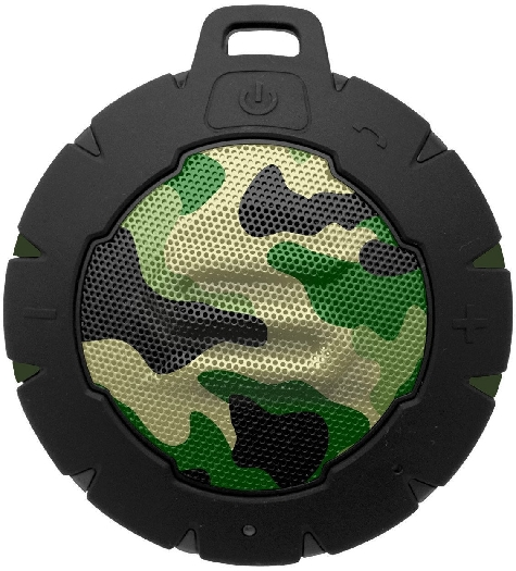 Soul Storm Weatherproof Wireless Speaker with Bluetooth - Camo Green 162g