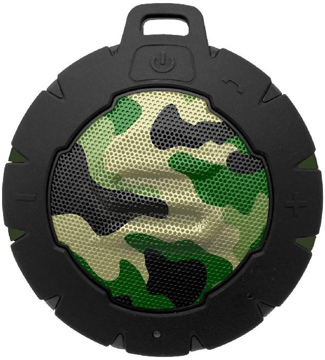 Soul Storm Weatherproof Wireless Speaker with Bluetooth - Camo Green 162g