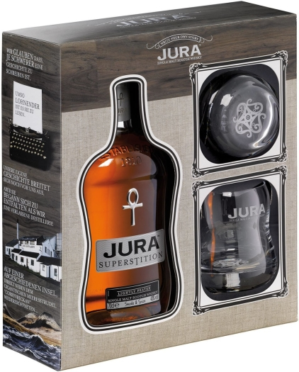 Isle of Jura Superstition Giftbox+ 2 glasses 0.7L