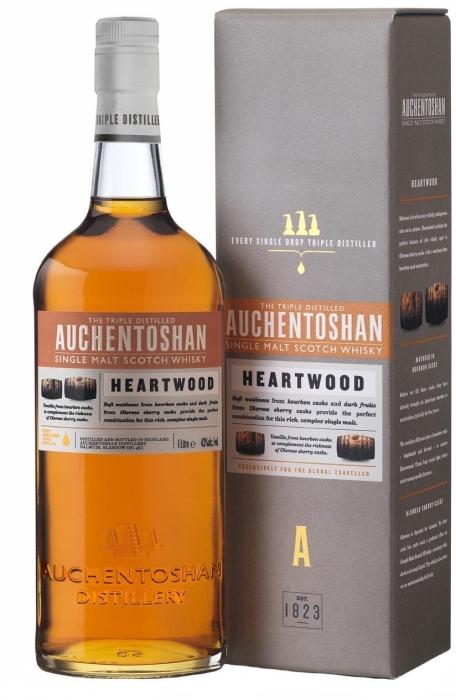 Auchentoshan Heartwood 43% gift box 1L