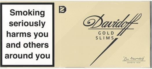 Davidoff Gold Slims Carton